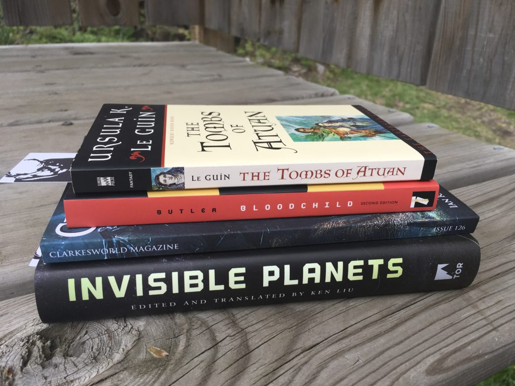 speculative fiction books from my to-read stacks